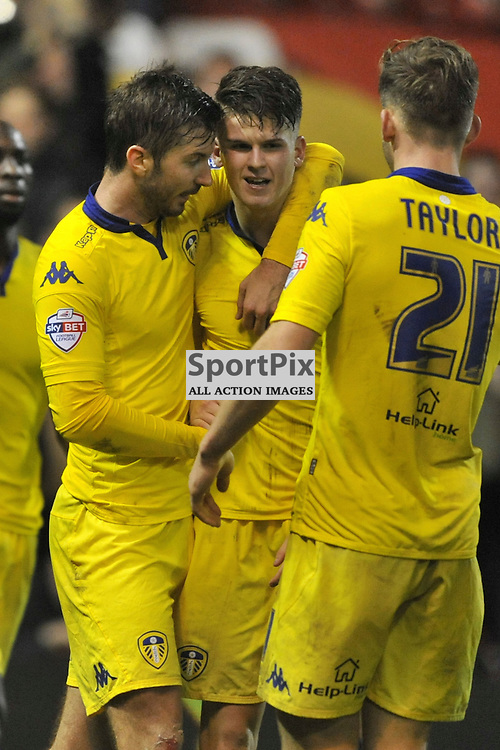 Lees Celebrate Their Equaliser by Sam Byram, Nottingham Forest v Leeds United, Sky Bet Championship, City Ground, Sunday 27th December 2015