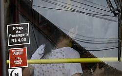 December 18, 2018 - SãO Paulo, Brazil - SÃO PAULO, SP - 18.12.2018: TARIFA DO TRANSPORTE PÚBLICO TERÁ AUMENTO - São Paulo's public transportation fare will increase to R $ 4.25 in , the increacrease will reach buses, CPTM and Metrô trains. (Credit Image: © Aloisio Mauricio/Fotoarena via ZUMA Press)