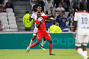 Balotelli Mario of Nice and Guedes Filho Marcelo of Lyon during the French championship L1 football match between Olympique Lyonnais and Amiens on August 12th, 2018 at Groupama stadium in Decines Charpieu near Lyon, France - Photo Romain Biard / Isports / ProSportsImages / DPPI