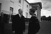 King of Sweden when Prince at Áras an Uachtaráin with Eamon de valera