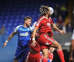 BIRMINGHAM RYAN SHOTTON HOLDS OF LUKE CHAMBERS IPSWICH TOWN, Ipswich Town v Birmingham City EFL Sky Bet Championship, Portman Road, Saturday 1st April 2017: Score 1-1<br /> Photo:Mike Capps