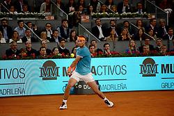 May 9, 2019 - Madrid, Spain - Rafa Nadal (SPA)in his match against Frances Tiafoe (USA) during day six of the Mutua Madrid Open at La Caja Magica in Madrid on 9th May, 2019. (Credit Image: © Juan Carlos Lucas/NurPhoto via ZUMA Press)