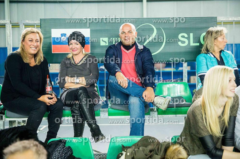 Spectators during Davis Cup Slovenia vs Lithuania competition, on October 30, 2015 in Kranj, Slovenia. Photo by Vid Ponikvar / Sportida