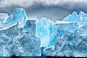 Blue iceberg in Neumayer Channel, Antarctica.