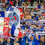 PARIS, FRANCE - September 10:  French supporters during the France V Andorra, UEFA European Championship 2020 Qualifying match at Stade de France on September 10th 2019 in Paris, France (Photo by Tim Clayton/Corbis via Getty Images)
