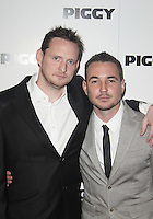 LONDON - MAY 01: Keiron Hawkes & Mark Compston  attends the Piggy UK Premiere at the Odeon Covent Garden, London, UK. May 01, 2012. (Photo by Brett D. Cove)