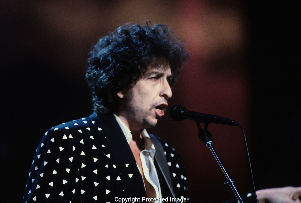 Bob Dylan at the Martin Luther King Jr Gala at the Kennedy Center for the Performing Arts in February 1986..Photograph by Dennis Brack bb32
