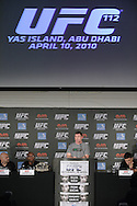 "ABU DHABI, UNITED ARAB EMIRATES, APRIL 7, 2010: Matt Hughes is pictured during the pre-fight press conference for ""UFC 112: Invincible"" at the Rotana Hotel in Abu Dhabi on April 7, 2010. (Martin McNeil)"