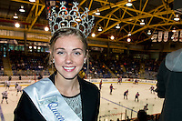 KELOWNA, CANADA - OCTOBER 2: The Queen of Silver Star Mountain attends the Kraft Hockeyville pre season game between the Edmonton Oilers and the Los Angeles Kings on October 2, 2016 at Prospera Place in Kelowna, British Columbia, Canada.  (Photo by Marissa Baecker/Shoot the Breeze)  *** Local Caption *** Queen Silver Star;
