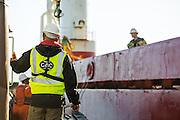 Tugboat alongside the Boa Sub C Multi purpose Offshore Vessel