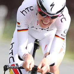 Judith Arndt on her way to victory ITT Thueringen rundfahrt around Schmolln