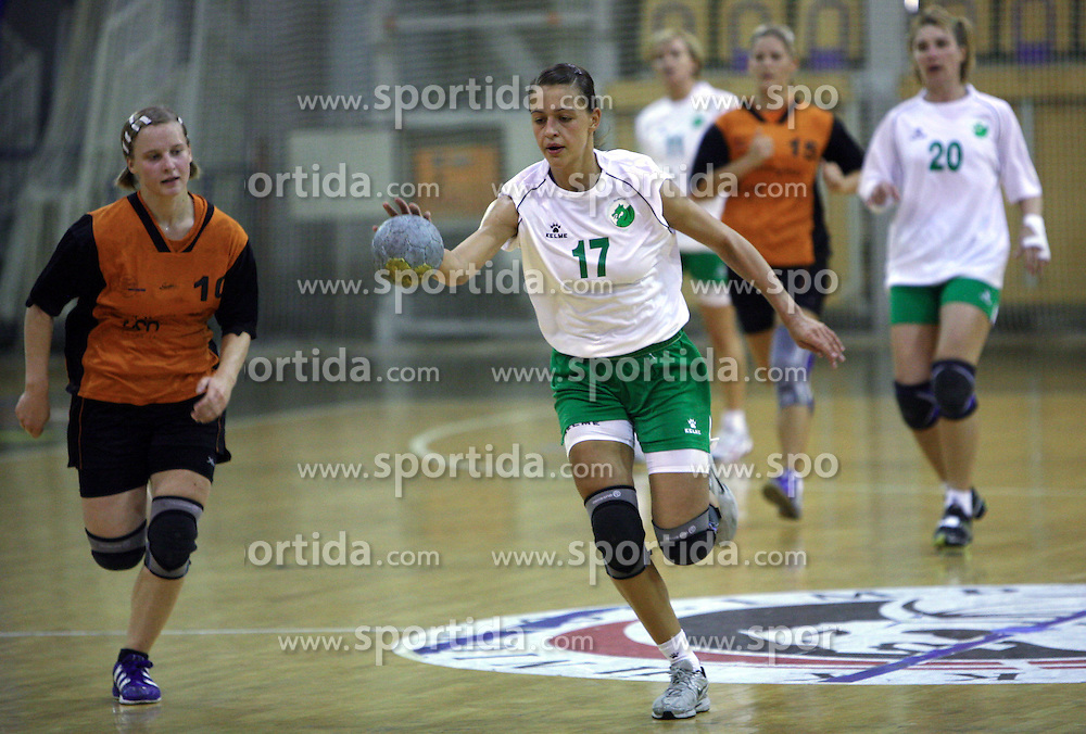 Mirjana Gojkovic of Olimpija at  handball game between women team RK Olimpija vs ZRK Brezice at 1st round of National Championship, on September 13, 2008, in Arena Tivoli, Ljubljana, Slovenija. Olimpija won 41:17. (Photo by Vid Ponikvar / Sportal Images)