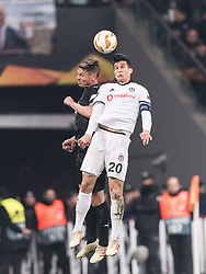 (L-R) Markus Rosenberg of Malmo FF, Necip Uysal of Besiktas JK during the UEFA Europa League group I match between between Besiktas AS and Malmo FF at the Besiktas Park on December 13, 2018 in Istanbul, Turkey