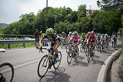 Leah Kirchmann (CAN) of Liv-Plantur Cycling Team rides on the first climb of the day during the Giro Rosa 2016 - Stage 1. A 104 km road race from Gaiarine to San Fior, Italy on July 2nd 2016.