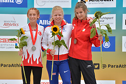 04/08/2017; Podium at 2017 World Para Athletics Junior Championships, Nottwil, Switzerland