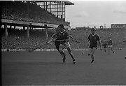 All Ireland Hurling Finals.1986..07.09.1986..09.07.1986..7th September 1986..September,every year,is the highlight of the GAA calendar with The All Ireland Finals being held in both codes. The senior and minor finals in each code are both played for on the same day. Each finalist has battled through provinical and knock out stages to reach the final.It is widely regarded as the pinnacle of a players career to reach and win an All Ireland Championship..In this years hurling finals,Cork played Offaly in the minor championship and a much fancied Galway team took on Cork in the senior final. Both matches were well fought and close encounters...Image of a Cork forward as he powers his way to the Galway goal..Cork emerged triumphant with a score of 4.13 (25) to Galways 2.15 (21).