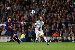 October 24, 2018 - Barcelona, Spain - BARCELONA, SPAIN, OCTOBER 24, 2018 - Mauro Icardi of FC Internazionale in action during the UEFA Champions League, Group B football match between FC Barcelona and FC Internazionale on October 24, 2018 at Camp Nou stadium in Barcelona, Spain (Credit Image: © Manuel Blondeau via ZUMA Wire)