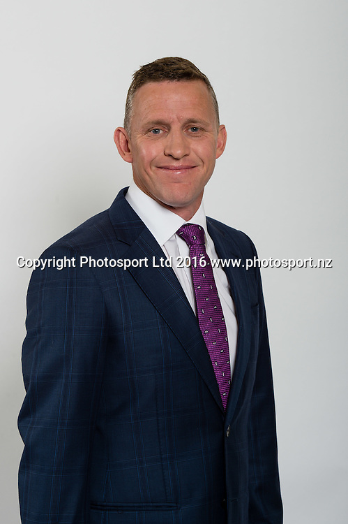 Craig Cumming. Sky Presenters headshots. Christchurch, New Zealand, 16th November 2016. © Copyright Photo: John Davidson / www.photosport.nz