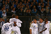20090702: BELO HORIZONTE, BRAZIL - Gremio vs Cruzeiro: Copa Libertadores 2009 - Semi Finals - 2nd Leg. In picture: Wellington Paulista (Cruzeiro) celebrating goal with team mates. PHOTO: CITYFILES