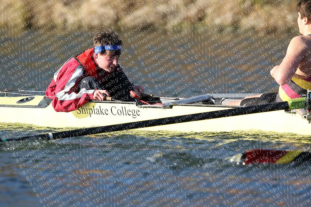 2012.02.25 Reading University Head 2012. The River Thames. Division 2. Shiplake College Boat Club B IM2