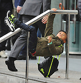 Patrick Kluivert's son waiting for his dad