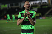 Forest Green Rovers Farrend Rawson(6) during the EFL Sky Bet League 2 match between Forest Green Rovers and Grimsby Town FC at the New Lawn, Forest Green, United Kingdom on 22 January 2019.