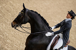 Vilhelmson Silfven Tinne, SWE, Don Auriello<br /> Göteborg - Gothenburg Horse Show 2019 <br /> FEI Dressage World Cup™ Final II<br /> Grand Prix Freestyle/Kür<br /> Longines FEI Jumping World Cup™ Final and FEI Dressage World Cup™ Final<br /> 06. April 2019<br /> © www.sportfotos-lafrentz.de/Stefan Lafrentz