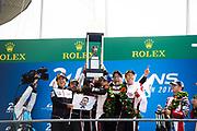 Sebastien Buemi, Kazuki Nakajima, Fernando Alonso, Mike Conway, Kamui Kobayashi, Jose Maria Lopez, Shigeki Tomoyama<br /> TOYOTA GAZOO  Racing. <br /> Le Mans 24 Hours Race, 11th to 17th June 2018<br /> Circuit de la Sarthe, Le Mans, France.