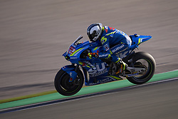 November 21, 2018 - Valencia, Spain - Alex Rins (42) of Spain and Team Suzuki Ecstar during the test of the new MotoGP season 2019 at Ricardo Tormo Circuit in Valencia, Spain on 21th Nov 2018  (Credit Image: © Jose Breton/NurPhoto via ZUMA Press)