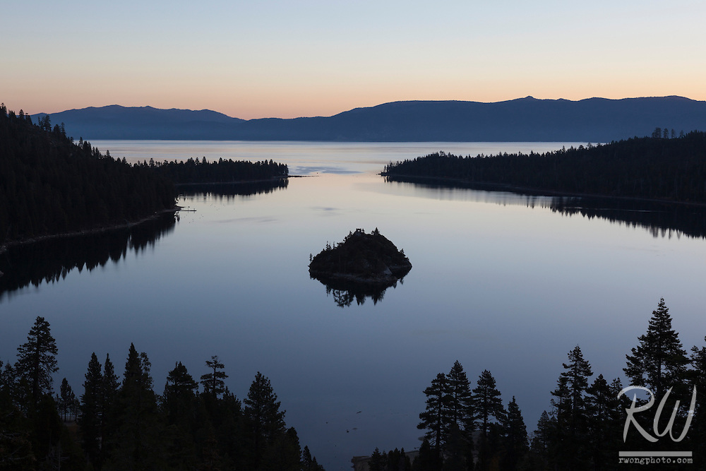 Emerald Bay State Park at Sunrise, Lake Tahoe, California