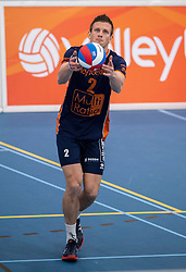 20-01-2019 NED: Talent Team Papendal - Achterhoek Orion, Ede<br /> Round 14 of Eredivisie volleyball. Orion win 3-01 of Talent Team /