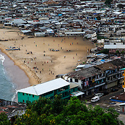 West Point, one of the poorest neighborhoods in the world, is seen from the Ducor Hotel, Monrovia, Liberia, 2012.