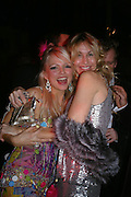 Hannah Sandling and Melissa Odabash. Andy & Patti Wong's Chinese New Year party to celebrate the year of the Rooster held at the Great Eastern Hotel, Liverpool Street, London.29th January 2005. The theme was a night of hedonism in 1920's Shanghai. . ONE TIME USE ONLY - DO NOT ARCHIVE  © Copyright Photograph by Dafydd Jones 66 Stockwell Park Rd. London SW9 0DA Tel 020 7733 0108 www.dafjones.com
