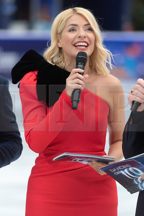 © Licensed to London News Pictures. 18/12/2018. London, UK. Holly Willoughby attends a photocall for the launch of ITV's Dancing On Ice new series. Photo credit: Ray Tang/LNP