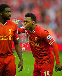 27.08.2013, Anfield, Liverpool, ENG, League Cup, FC Liverpool vs Notts County FC, 2. Runde, im Bild Liverpool's Daniel Sturridge in action against Notts County during the English League Cup 2nd round match between Liverpool FC and Notts County FC, at Anfield, Liverpool, Great Britain on 2013/08/27. EXPA Pictures © 2013, PhotoCredit: EXPA/ Propagandaphoto/ David Rawcliffe<br /> <br /> ***** ATTENTION - OUT OF ENG, GBR, UK *****