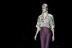September 17, 2016 - Madrid, Spain - A model  walks Turing Ana Locking Fashion Show at Madrid Fashion Week Spring/Summer 2017/18 at Ifema, on September 17, 2016, in Madrid, Spain  (Credit Image: © Oscar Gonzalez/NurPhoto via ZUMA Press)