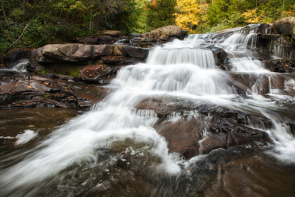 Cascade Falls in the Fall<br /> <br /> Available sizes:<br /> 18&quot; x 12&quot; print or canvas print<br /> <br /> See Pricing page for more information Also available as a mousepad or greeting cards.