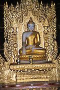 Myanmar, Innwa (Ava), Bagaya monastery, built of teak wood