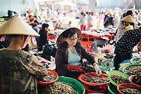 Seafood vendors at Con Market in Danang, Vietnam.