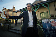 UNITED KINGDOM, London:  British Conservative politician and mayoral candidate Zac Goldsmith arrive at a polling station in West London to vote for the London mayoral election in London, on May 5, 2016. Pic by Andrew Cowie / Story Picture Agency