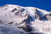 Glacier detail on Mount Rainier, Mount Rainier National Park, Washington