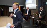 ZEIST - NGF themadag 2016.  gastsprekers Ole Skarin (Zweedse Golf Federatie) met Erik Lenselink (NOC*NSF) . links NGF President Willem Zelsmann.   Copyright KOEN SUYK