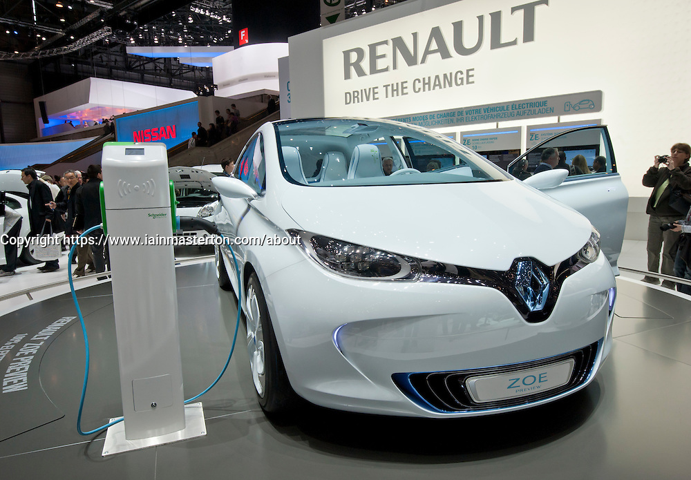 Renault Zoe plug-in electric car at the Geneva Motor Show 2011 Switzerland
