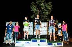 Zvonko Zavrl, Jaka Primozic of KK Sava Kranj, Ziga Jerman of Radenska AS and Matej Mercun of Radenska As at Trophy ceremony after the cycling race Night Criterium - Kranj 2016, on July 30, 2016 in Kranj, Slovenia. Photo by Vid Ponikvar / Sportida