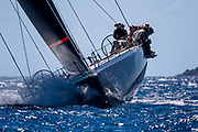 Proteus sailing in a practice race at the Corfu Challenge.