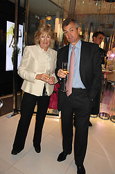 ANNABEL ELLIOT and MICHAEL WAINWRIGHT at a party to launch jeweller Boodles new store at 178 New Bond Street, London W1 on 26th September 2007.<br />