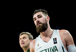 Jonas Valanciunas of Lithuania during basketball match between National Teams of Lithuania and Greece at Day 10 in Round of 16 of the FIBA EuroBasket 2017 at Sinan Erdem Dome in Istanbul, Turkey on September 9, 2017. Photo by Vid Ponikvar / Sportida