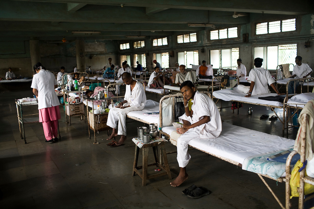 Patients at the Group of TB Hospitals in Mumbai, India.