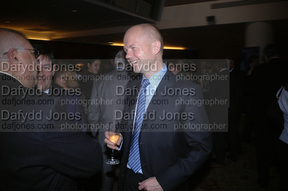 William  Hague. 'Dirty politics, Dirty times: My fight with Wapping and New Labour' by Michael Ashcroft. Book launch party in aid of Crimestoppers. Riverbank Plaza Hotel. London SE1.      October 10 2005. ONE TIME USE ONLY - DO NOT ARCHIVE © Copyright Photograph by Dafydd Jones 66 Stockwell Park Rd. London SW9 0DA Tel 020 7733 0108 www.dafjones.com