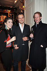 Left to right, LADY ROSE ALEXANDE, The MARQUESS OF BRISTOL and TOM RUNDALL at a party hosted by TLC to celebrate signing their 5000th member and Ralph Lauren to celebrate the opening of the first Ralph Lauren Rugby store in the UK at 43 King Street, Covent Garden, London on 30th November 2011.